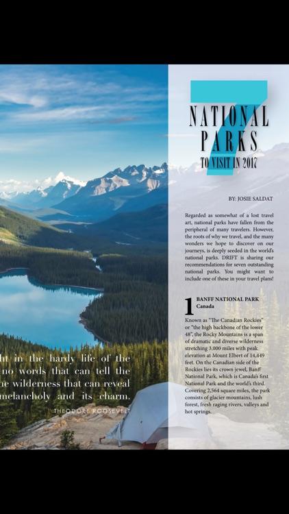 DRIFT Travel Magazine