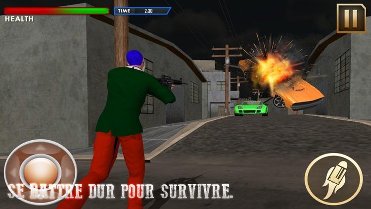 Crazy Clown Real Gangster Jail Break: City Attack screenshot-4
