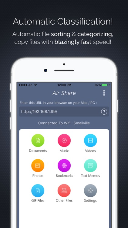 Air Share : Transfer Files From PC To Your Device! screenshot-3