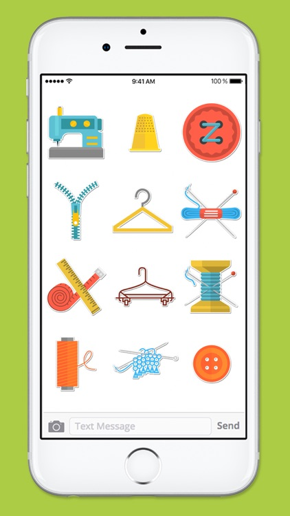 Crafty Hobby Sewing Icons Sticker Pack screenshot-4