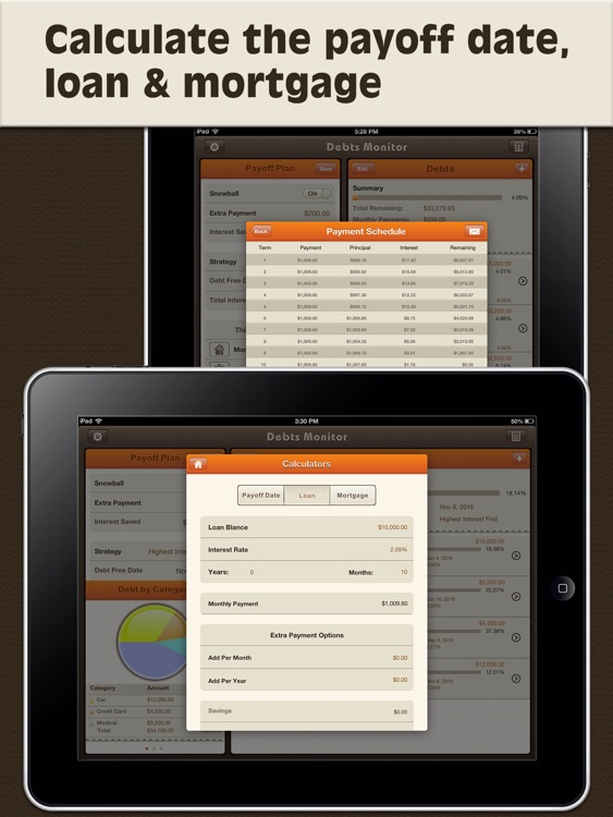Debts Monitor Pro for iPad-Debt Tracker & Reminder screenshot-3