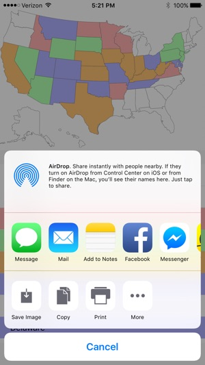 Visited states map on the app store gumiabroncs Gallery