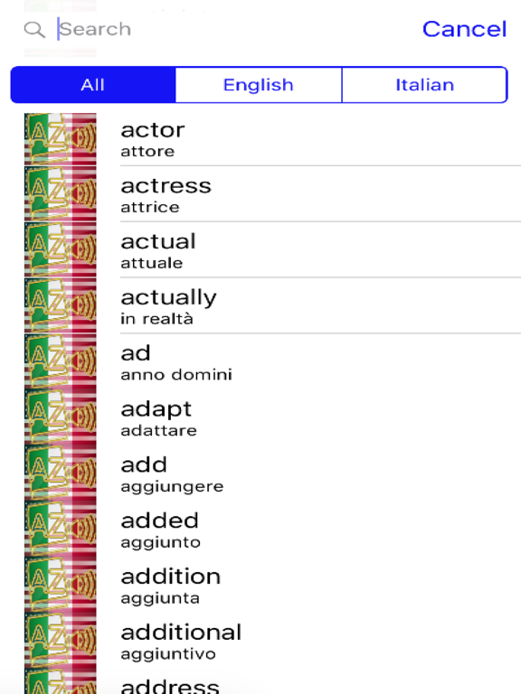 Italian Dictionary GoldEdition screenshot 7