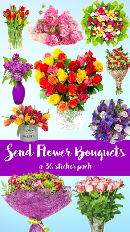 Send Flower Bouquets Sticker Pack by Veritas Design Group