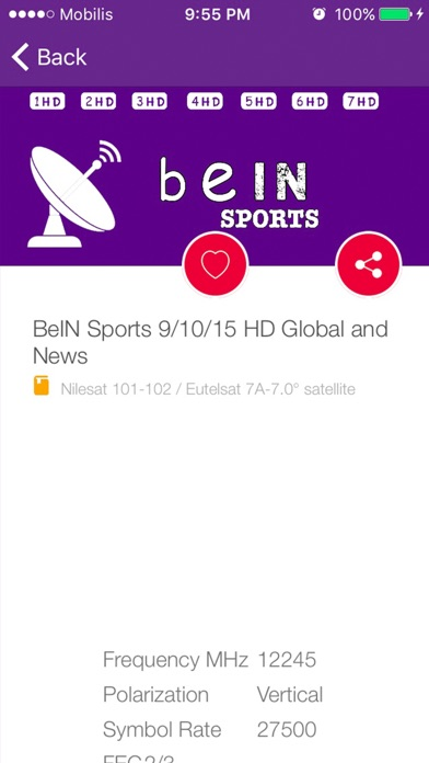 Tv Sat Info For beIN Sports HD 2017 - App - Mobile Apps