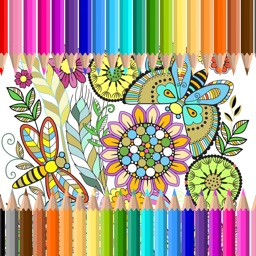 Flower Color Adult Coloring Book for Stress Relief