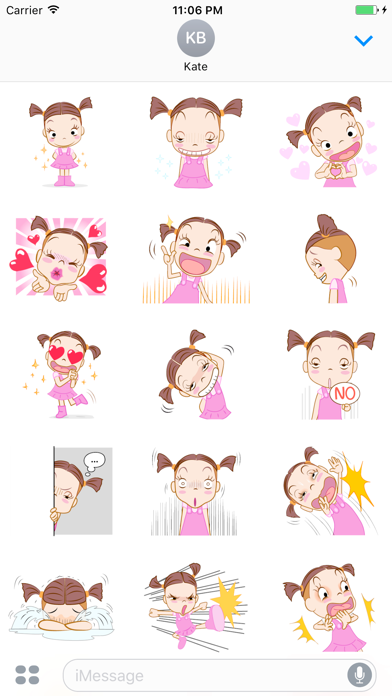 Natalia The Funny Single Girl English Stickers screenshot one