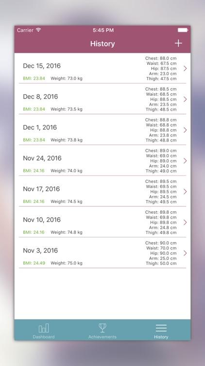 iBodyShape - Weight & Body Tracker screenshot-4