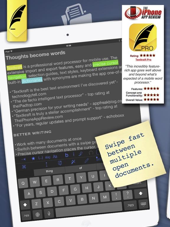 Screenshot #1 for Textkraft Professional