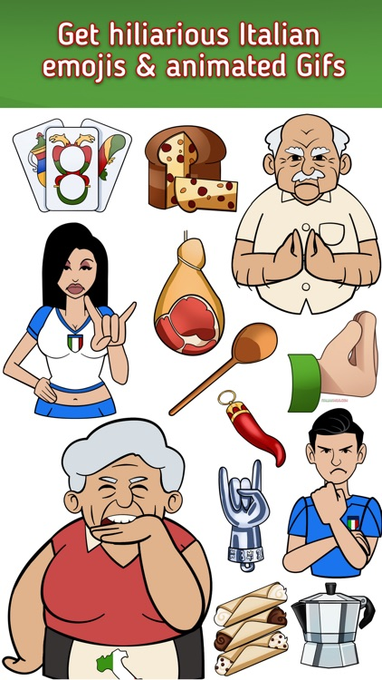 Italian Emoji -  Italian Emojis, Stickers and Gifs screenshot-1