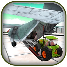 3D Farming Tractor Cargo Airplane Pilot