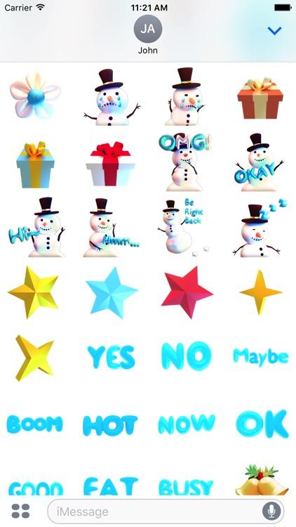Snowman! Cute 3D Emoji Stickers for iMessage