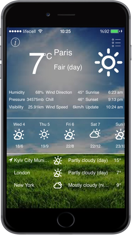 Weather App with 10 Days Forecast screenshot-3