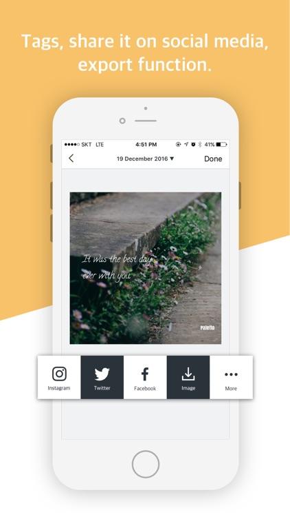 Paletto - Typo Filter to diary screenshot-4