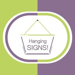 Hang a Sign! II (Green/Violet)