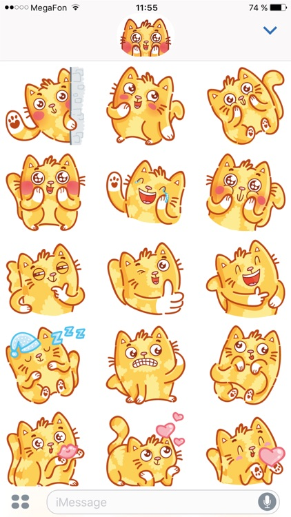 Cat stickers for iMessage! screenshot-3