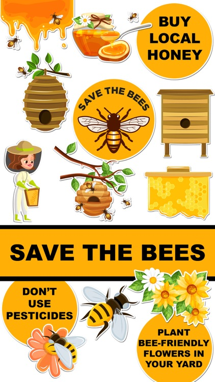 Save The Bees Sticker Pack screenshot-0