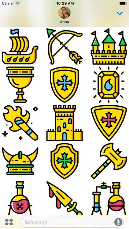 The Medieval: Golden Era Emoji Stickers Limited screenshot-3