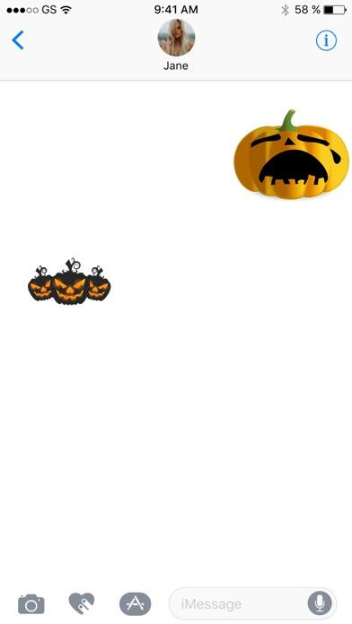Halloween-Kürbis Sticker PackScreenshot von 3