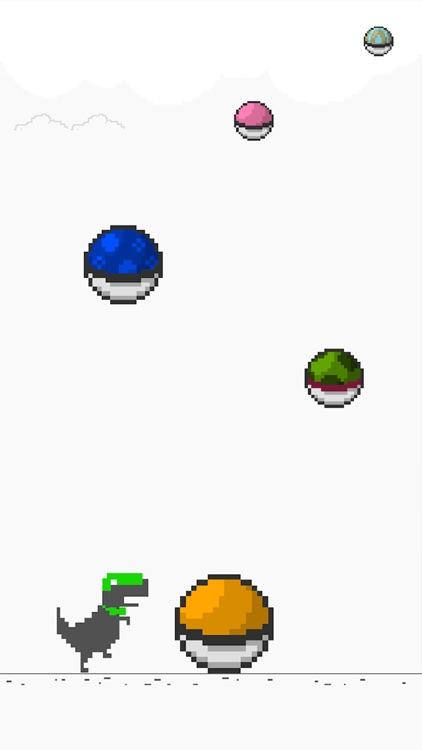 Pixel Color Ball Fell From The Sky