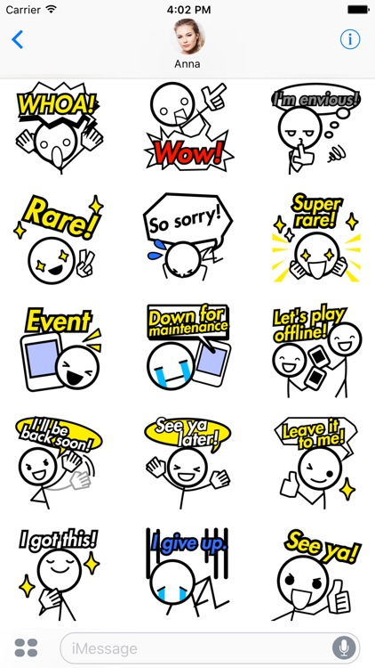 Gamer Sticker - Expressions for Video Game Players