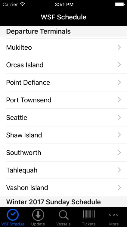 WSF Puget Sound Ferry Schedule screenshot-0
