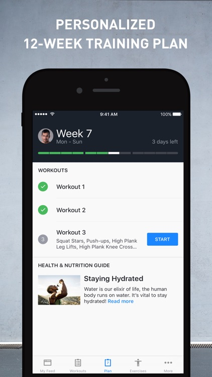 Runtastic Results: Workout & Strength Training app image
