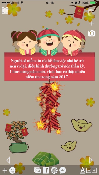 Làm thiệp Tết Xuân Đinh Dậu - Chụp hình Sticker screenshot two