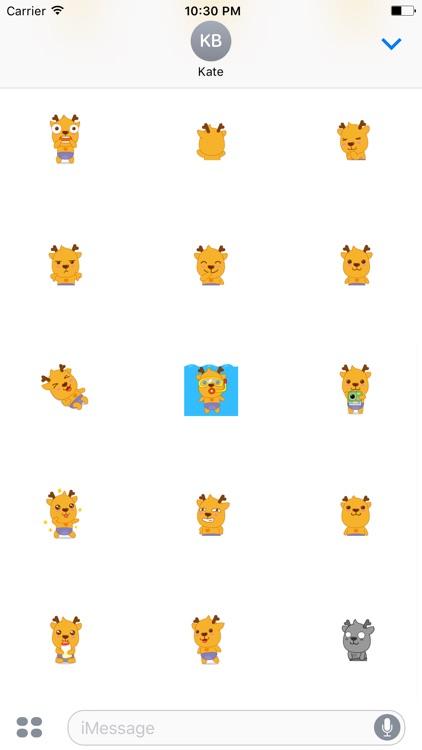 Bingo Reindeer animated stickers