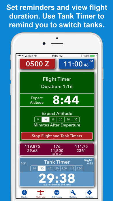 ZivTimer - Flight Timer with Zulu and World Time screenshot two
