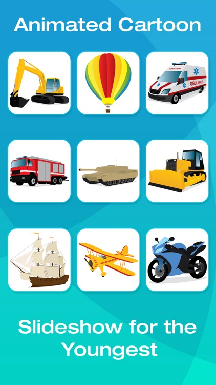Vehicle Flashcards for Kids, Babies or Toddlers