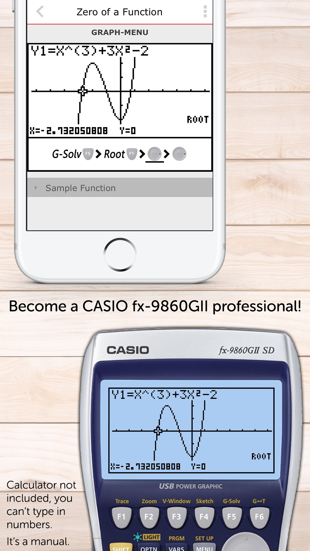 CASIO Graph Calculator Manual Screenshot