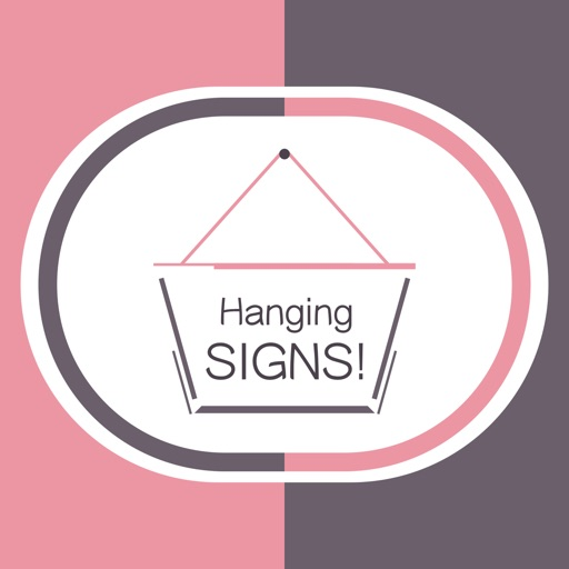 Hang a Sign! II (Pink/Dark Violet)