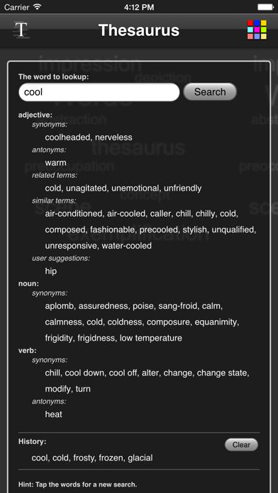 Thesaurus App - Free screenshot four