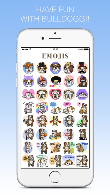Bulldoggi Emojis - English Bulldog Emoji Stickers screenshot-2
