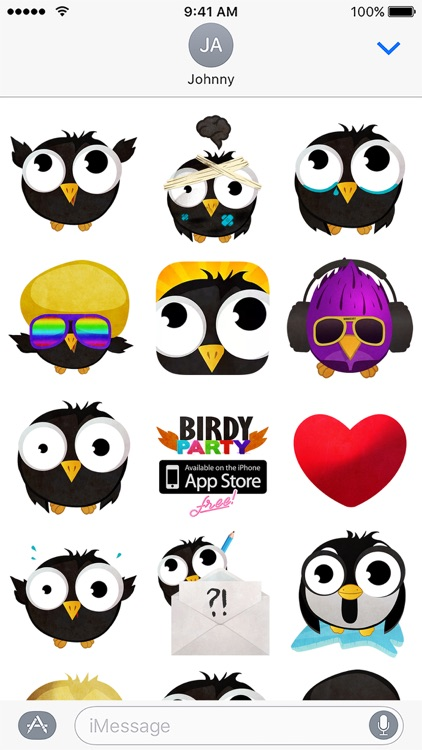 Birdy Party Stickers