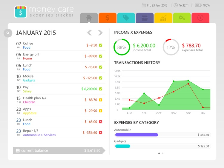 Money Care | Bills monitor