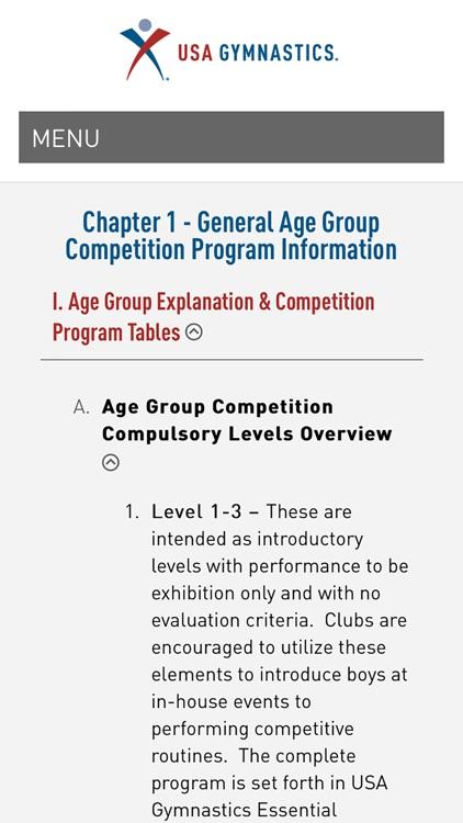 USA Gymnastics Men's Junior Olympic Age Group