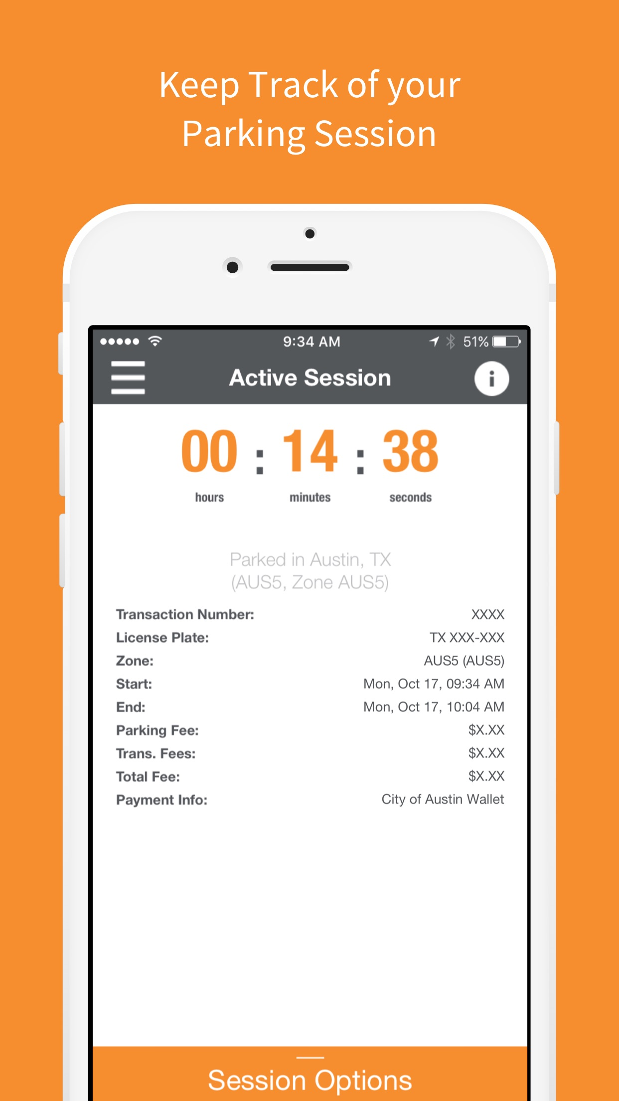 ParkX - Mobile Payments For Parking Screenshot