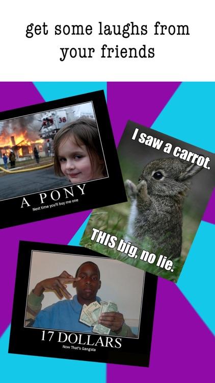 Easy Meme Maker- Funny Meme Creator & Editor Pics screenshot-3