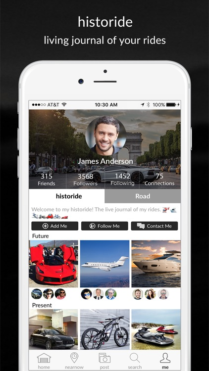 historide - Social Network for Vehicle Enthusiasts