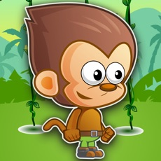 Activities of Cute Monkey Jumping