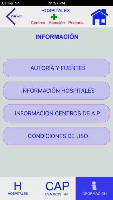 HOSPITALES Y CENTROS DE AP screenshot 5