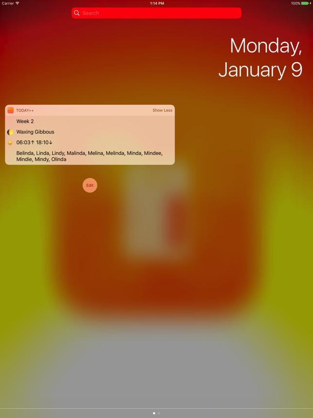 Today++ Screenshot