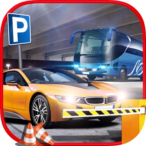 Bus, Car, Truck - Multi Level Parking Simulator 3D app logo