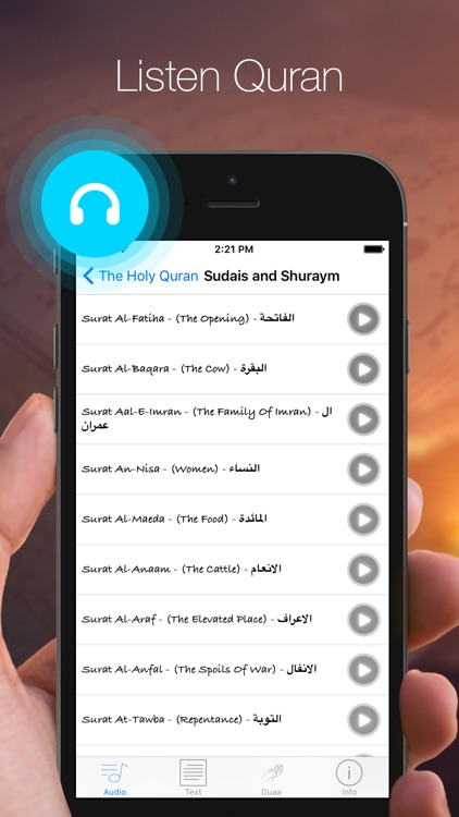 Al-Quran Pro audio book for your prayer time