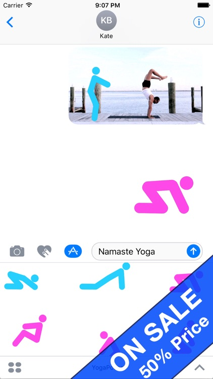 Animated Yoga Poses Stickers