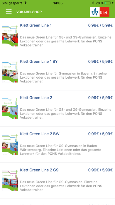 Green Line Vokabeltrainer screenshot 2