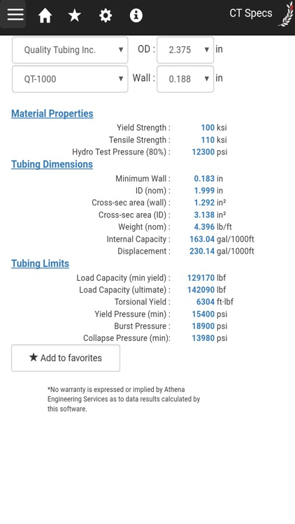 Coiled Tubing Specifications