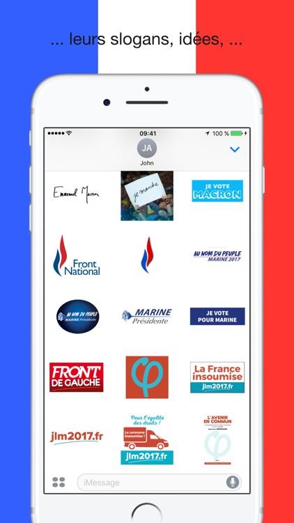 Présidentielle 2017 - Stickers screenshot-3